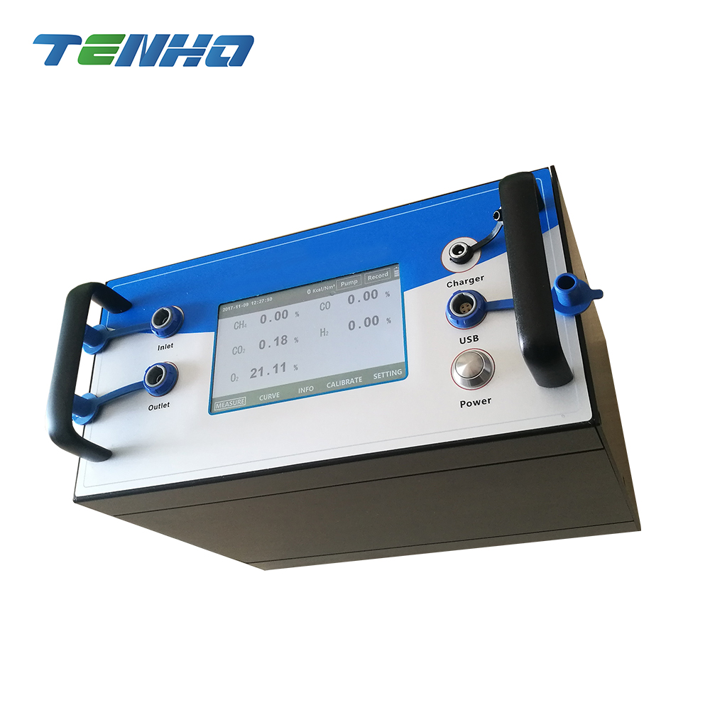 Portable Six Gas Analyzer CH4/CO2/CO/O2/H2/CxHy